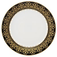 Royal Limoges Oasis Black & Gold Dinner Plate