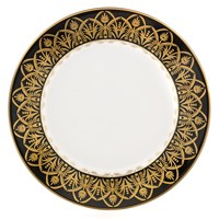 Royal Limoges Oasis Black & Gold Dessert Plate