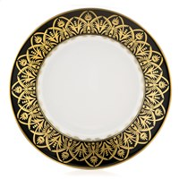 Royal Limoges Oasis Black & Gold Rim Soup Bowl
