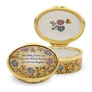 Halcyon Days Our Daughter Enamel Box