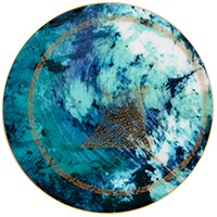 Haviland Ocean Blue Bread & Butter Plate, Manta Ray