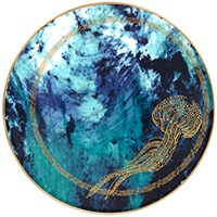 Haviland Ocean Blue Bread & Butter Plate, Jellyfish