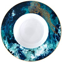 Haviland Ocean Blue Rim Soup / Pasta Bowl