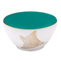 Haviland Ocean Blue Deep Bowl, Manta Ray