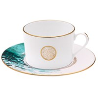 Haviland Ocean Blue Teacup & Saucer