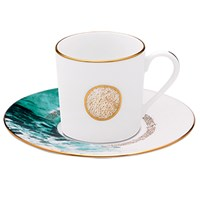 Haviland Ocean Blue Coffee Cup & Saucer