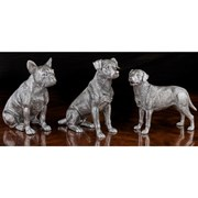 Sterling Silver Large Jack Russell Sculpture