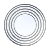 JL Coquet Hemisphere Platinum Stripe Large Salad Serving Bowl