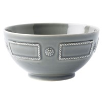 Juliska Berry & Thread French Panel Stone Grey Cereal / Ice Cream Bowl