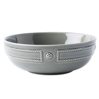 Juliska Berry & Thread French Panel Stone Grey Coupe Pasta Bowl