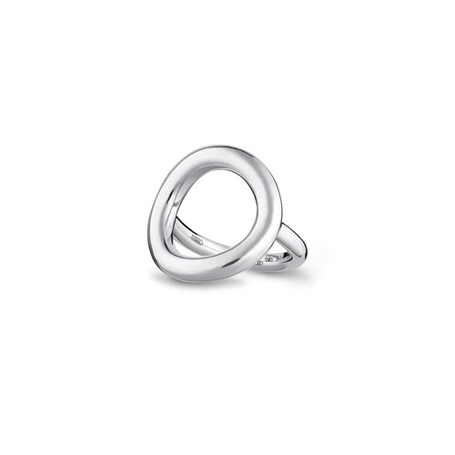 Christofle Sterling Silver Circle Ring