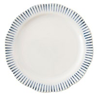 Juliska Sitio Stripe Indigo Dinner Plate
