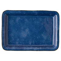 Juliska Puro Dappled Cobalt Tray / Rectangular Platter