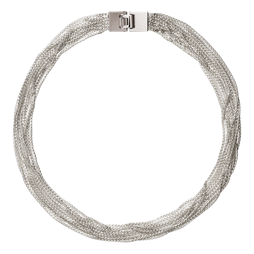Christofle Madison Style 12 Strand Silver Choker