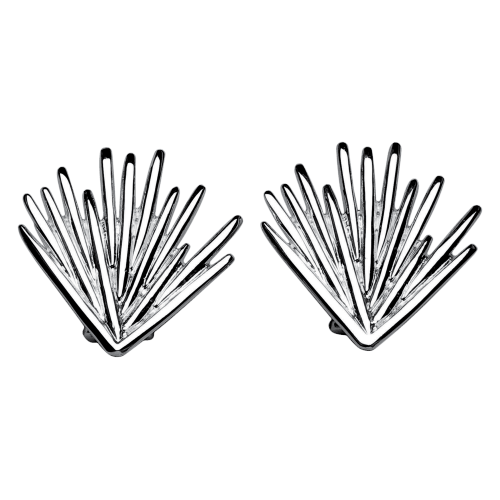 Christofle Palmacae Sterling Silver Palm Tree Earrings