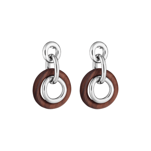 Christofle Idole de Christofle Rosewood & Sterling Silver Earrings