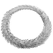 Christofle Palmaceae Frond Sterling Silver Necklace