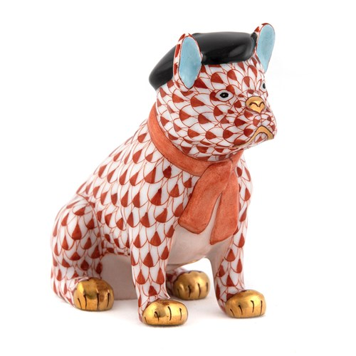 Herend French Frenchie Bulldog, Rust