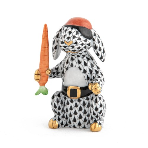 Herend Pirate Bunny, Black