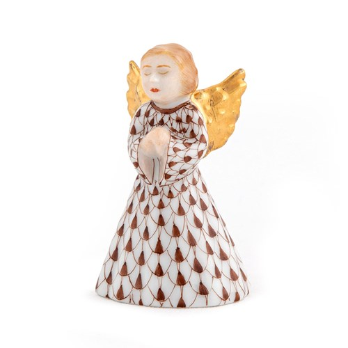 Herend Petite Praying Angel, Chocolate