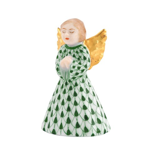 Herend Petite Praying Angel, Forest Green
