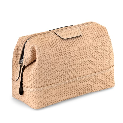 Large Woven Framed Dopp Kit, Sand