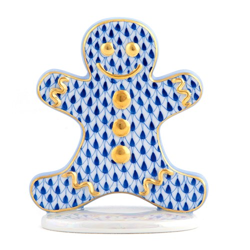 Herend Gingerbread Man, Sapphire