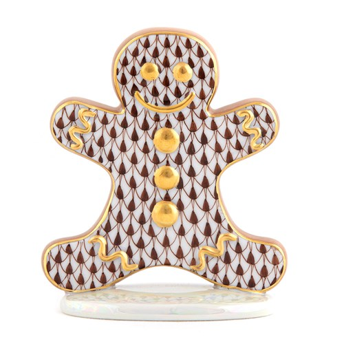 Herend Gingerbread Man, Chocolate