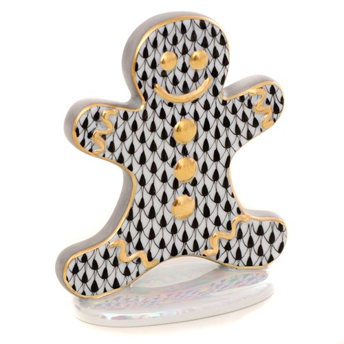 Herend Gingerbread Man, Black