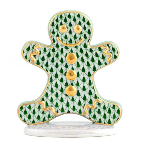 Herend Gingerbread Man, Forest Green