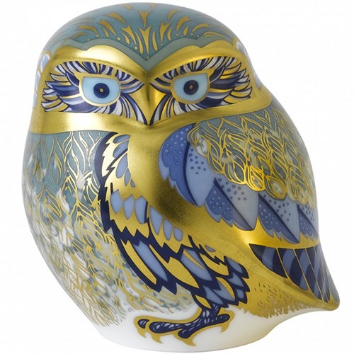 Royal Crown Derby Nightingale Owl Paperweight