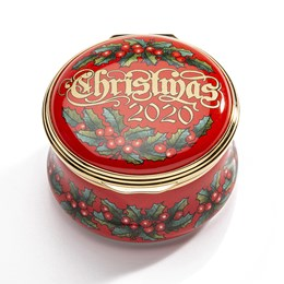 Halcyon Days 2020 Christmas Enamel Box