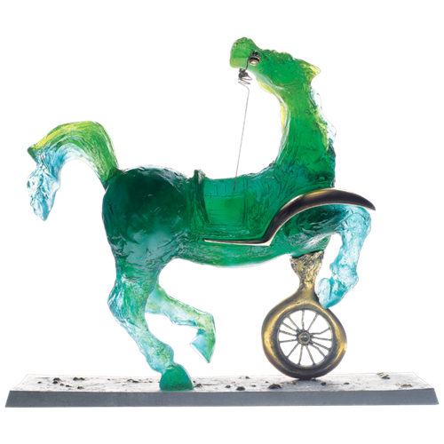 Daum Crystal Debris Automobile Horse by Salvador Dali, Limited Edition