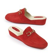 Women's Red Penny Bit Slippers