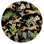 Jungle Wildlife Round Glass Platter