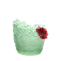 Daum Crystal Medium Hibiscus Vase, Limited Edition