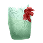 Daum Crystal Hibiscus Large Vase, Limited Edition