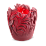 Daum Crystal Jungle Small Vase, Red