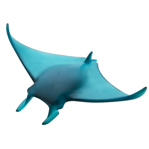 Daum Crystal Small Manta Ray by Umberto Nuzzo, Limited Edition