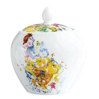 Bernardaud Les Bouquets de Fleurs Covered Sugar Bowl
