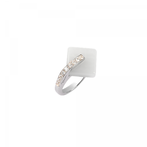 Daum Crystal Eclipse Ring, White