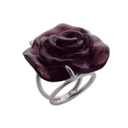 Daum Crystal Rose Passion Ring