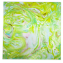 Daum Crystal Decorative Panel, Green, Blue & Pink