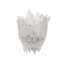 Daum Crystal Vegetal Sconce, White