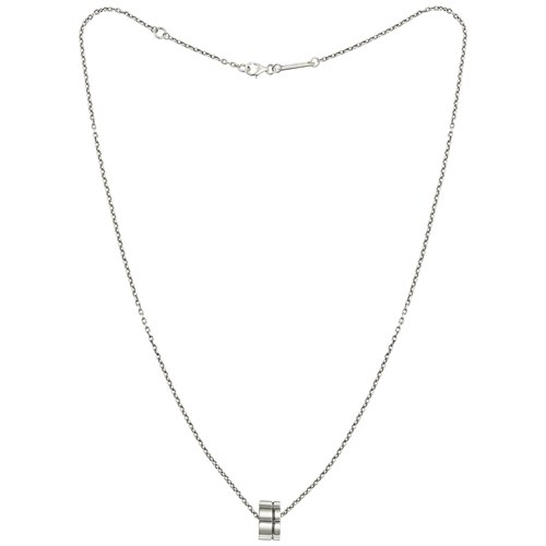 Christofle Graphik Sterling Silver Pendant Necklace