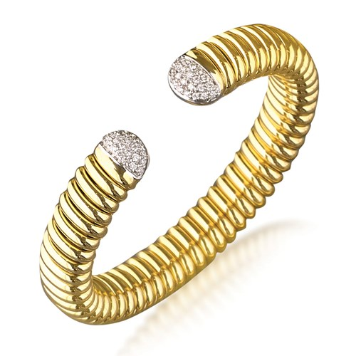 18k Yellow Gold Cuff Bracelet