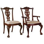 Carved Mahogany Chippendale Dining Chairs