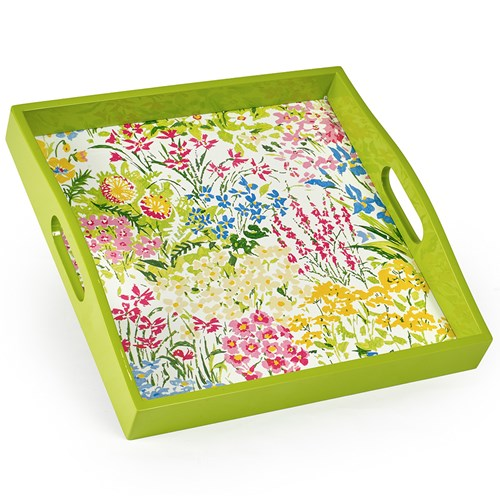 Meadow Flowers Lacquered Tray