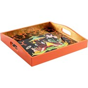 The Courtship Square Lacquered Tray
