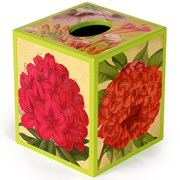 Gold Jefferson's Garden Lacquered Tissue Box Cover